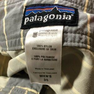 Patagonia Swim - Patagonia Shorts Size 35 Gray Striped Boardshorts
